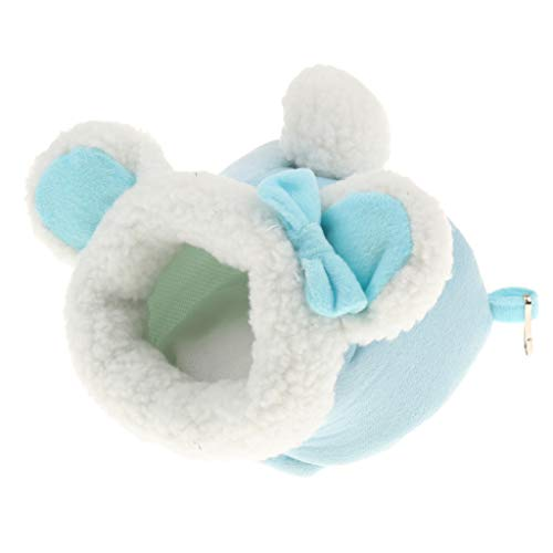 B Blesiya Small Animals Pet Nest/Bed / Cushion/Mat for Guinea Pig/Gerbil/Mice - Blue S from B Blesiya