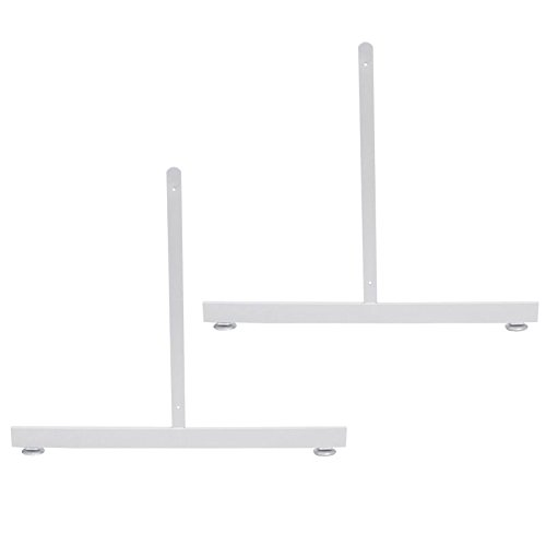 2 Pc New Retails White Finished Wire Grid Wall Display Legs 24''H x 24''L by Only Hangers