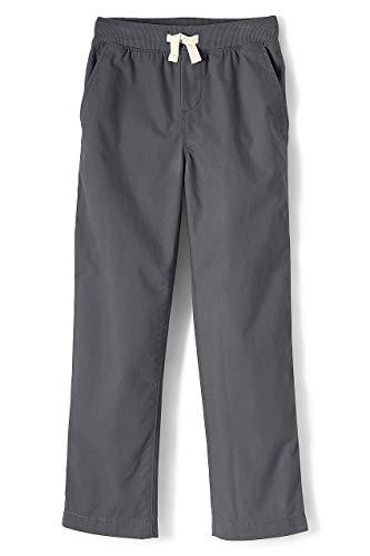 Lands' End Little Boys Slim Iron Knee Pull On Pants, S, Cadet Gray ()