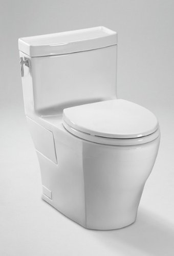 Toto MS626214CEFG#12 Aimes One-Piece High-Efficiency Toilet, 1.28GPF with Sana Gloss, Sedona Beige