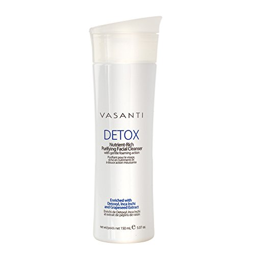 Detox - Nutrient Rich Purifying Facial Cleanser with Gentle Foaming Action - Paraben Free, Sulfate Free 5.07oz