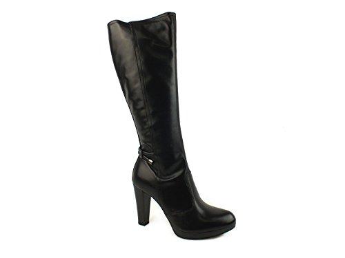 Nero Giardini Black Pelle A615956d Stivale Tacco Donna 36 9 Zip qqwr0dB