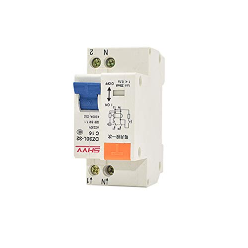 Alician 220V Single Phase Double Wire Leakage Protector DZ30LE Residual Current Device 10A Bathroom Supplies