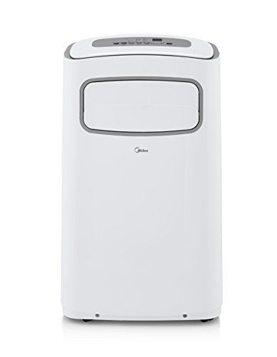 Midea EasyCool 3-In-1 Portable Air Conditioner with Dehumidifier and Fan functions for rooms up to 350 sq-ft and LCD Remote Control, 12,000 BTU (8,000 BTU SACC)