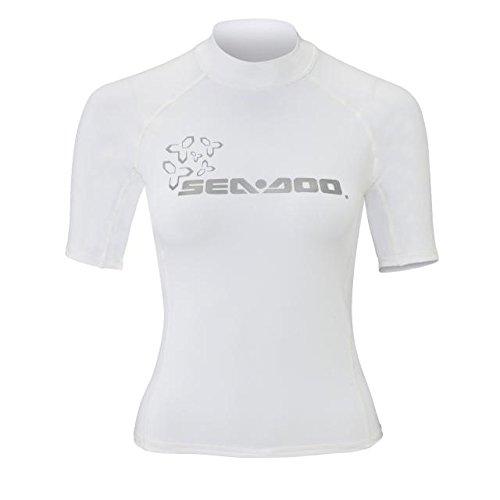 BRP Sea-Doo Ladies' Short Sleeve Rashguard White Small by Sea-Doo