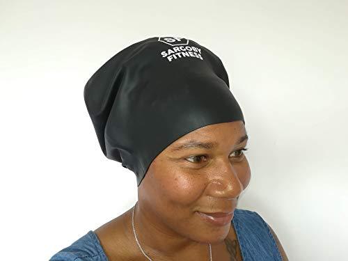 Sargoby Fitness Extra Large Swim Cap for Long Hair Dreadlocks Braids Locs Hair Extensions | Swim Cap for Braids | Dreads Swim Cap Men Women Silicone Material | Use as Shower Cap