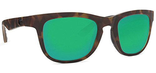 Costa Del Mar Copra Sunglass Matte Retro Tort/Crystal/Black/Green Mirror (Matte Black Crystal Green)