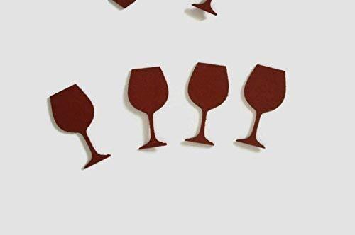 Dark Red Wine Glass Confetti 100 Pieces