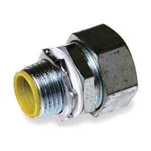 Hubbell H2001 Liquid Tight Connector, Male, Steel, Insulated, Straight, 2''