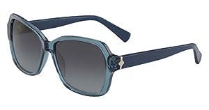 Cole Haan Women's Ch7007s Rectangular Sunglasses, Crystal Teal, 56 mm