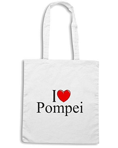 T-Shirtshock - Bolsa para la compra TLOVE0044 i love heart pompei Blanco