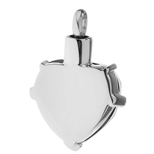 Clear Crystal Heart Urn Charm Pendant for Family Pets Memorial Ashes Holder Necklace Jewelry Crafting Key Chain Bracelet Pendants Accessories Best| Color - Grandpa
