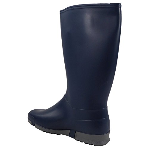 Wide nbsp;8 de Señoras Botas Botas invierno NAVY lluvia nieve tamaño agua pantorrilla de mujer nbsp;– para DUNLOP 3 botas ScAAwqda
