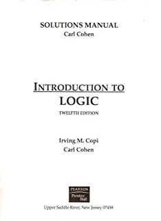 Solutions to exercises in introduction to logic irving m copi solutions manual for introduction to logic fandeluxe Gallery