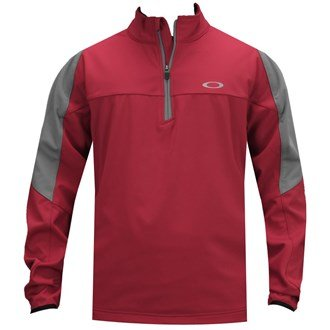 Oakley Oberlin Windproof 1/4 Zip Mens Golf Jacket Jester Red - Oakley Apparel Outlet