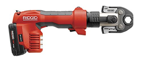 RIDGID RP 200-B Compact Press Tool Kit 43433 Hydraulic Crimping Tool with ProPress Jaws - PureFlow PEX Compatible (Cordless)