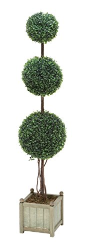 - Deco 79 Polyester Topiary Boxwood, 48 by 10-Inch