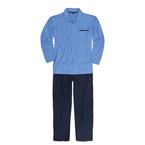 Pyjama Adamo Veste Pantalon 10xl Au 2xl Du amp; Ensemble Bleu wqr4q