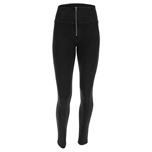 Noir Pantalon Jeans Coutures Noir Taille lastique Large UP Haute Denim Skinny WR en rzr4qfU