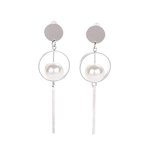 Luxsea Earrings Fashion Jewelry Vintage Hollow Circular Sequined Pearls Long Drop Earrings Boucle D'oreille Femme Pendante