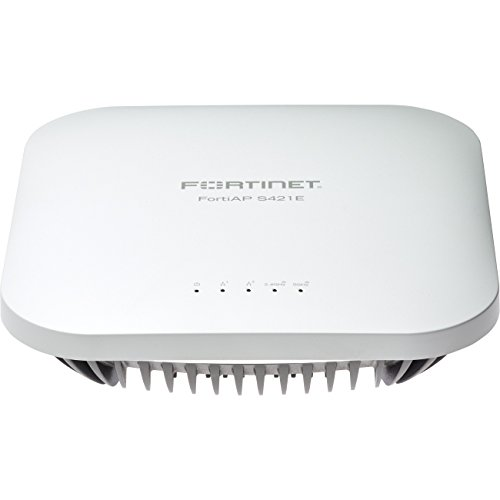 Fortinet - FAP-421E-W - Fortinet FortiAP S421E IEEE 802.11ac 1.30 Gbit/s Wireless Access Point - 2.40 GHz, 5 GHz - 8 x Antenna(s) - 8 x Internal Antenna(s) - 2 x Network (RJ-45) - Ceiling Mountable,