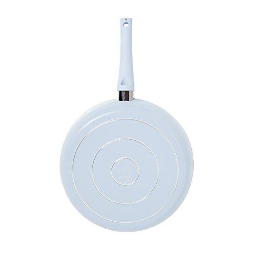IKO Crema Collection Ceramic Non Stick Fry Pan Dishwasher Safe (12 INCH, Blue)