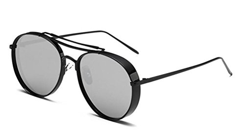 GAMT Classic Large Frame Sunglasses With Colored Lens UV400 (Black Frame Silver, - Sale Cheapest Sunglasses