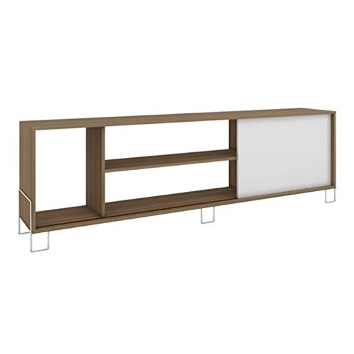 BOWERY HILL 71 TV Stand in Oak and White