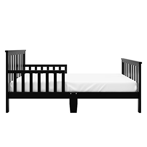 Storkcraft Mission Ridge Toddler Bed Black, Fits Standard-Size Toddler Mattress (Not Included), Guardrail on Both Sides, Meets or Exceeds All Federal Safety Standards, Pine & Composite Construction by Stork Craft (Image #2)