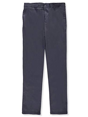 (French Toast Big Girls' Stretch Twill Uniform Pants - Gray, 16)