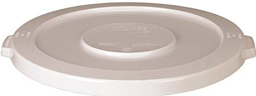 Continental 2001WH 20-Gallon Huskee LLDPE Waste Lid, Round, White