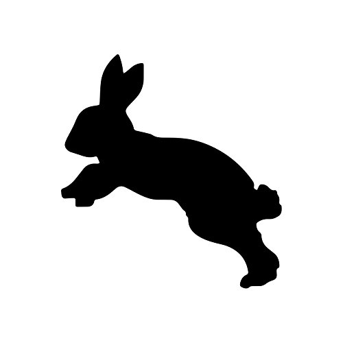 Bargain Max Decals Leaping Bunny Silhouette Decal Notebook Car Laptop 5.5