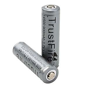 trustfire protegido 14500 batería recargable con PCB de color gris (2-pack)