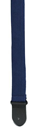 Perris Leathers BCT-1681 2-Inch Basic Cotton Guitar Strap with Leather Ends