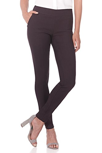 Rekucci Women's Ease in to Comfort Modern Stretch Skinny Pant w/Tummy Control - Trousers Wide Tailored Leg