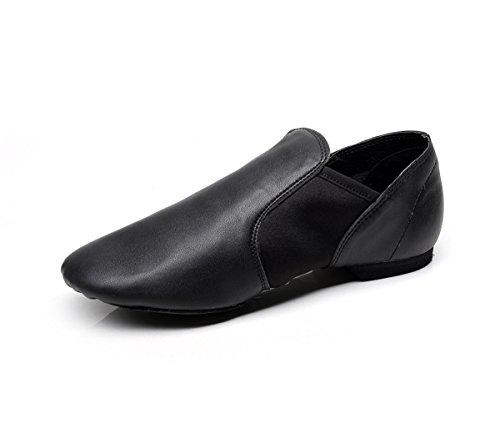 [Stelle Slip-On Jazz Shoe (Women/Big Kid) (6M US, Black)] (Mens Jazz Shoes)