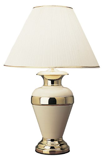 ORE International 6129IV 32-Inch Metal Lamp, Ivory