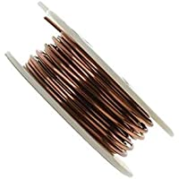 ART IFACT 10 Meters Enameled Copper Wire - 18 Gauge (1.22 mm Diameter) - 99.9% Pure Copper Wire on Spool - Winding Wire - Magnet Wire