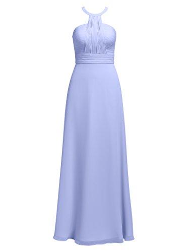Lavender Alicepub Long Dress Prom Formal Halter Evening Party Dresses Slim Bridesmaid Chiffon SFBPSw