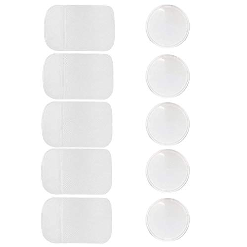 Step Back Cupboard (10 Packs Anti-slip Gel Pads Viaky Fixate Sticky Cell Pads Non-slip Gel Mat Sticky Auto Gel Holder,Can Stick to Cellphone, Pad, Keys ,Glass, Mirrors, Whiteboards, Metal (Clear))