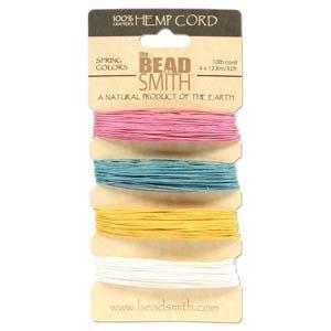 Hemp Twine Bead Cord .55mm - Spring Colors App 42 Feet - Hemp Beadsmith