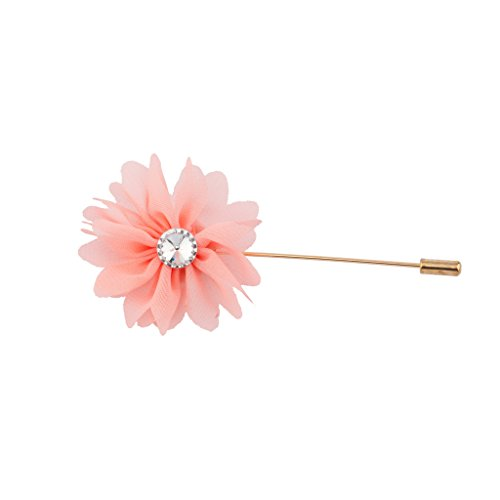 Lux Accessories Fabric Pink Flower Floral Pin Brooch Broach