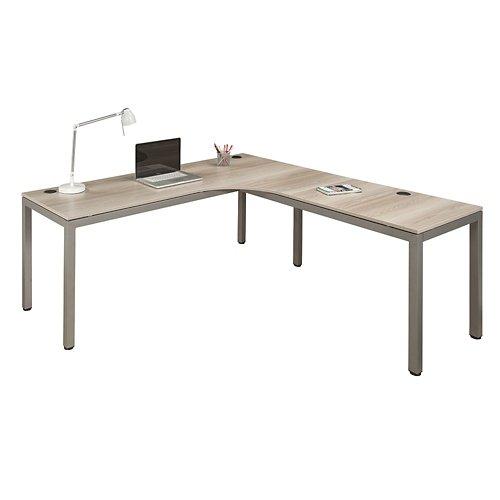 at Work Corner Desk with User Curve 72