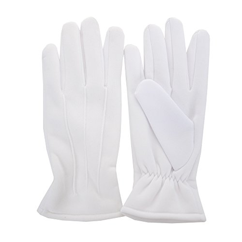 JISEN Men Formal Tuxedo Honor Guard Parade Winter Wind-Resistant Polyester Gloves Common Type]()