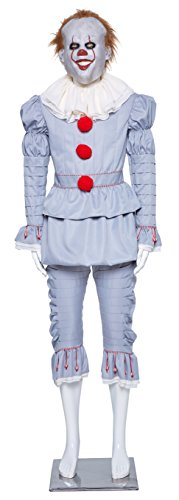 Kasual Kids Unisex Halloween Clown Costume Outfit Pennywise Cosplay Dress Up in Size S