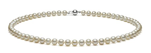 HinsonGayle AAA Handpicked 7.5-8mm White Freshwater Cultured Pearl Necklace Sterling Silver, 17 inch by HinsonGayle Fine Pearl Jewelry