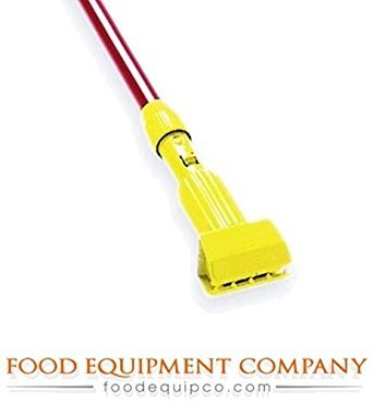 Rubbermaid Commercial Products FGH24600GR00 Gripper Clamp-Style Wet Mop, Fiberglass Handle, 60'', Green (Pack of 12) by Rubbermaid Commercial Products (Image #1)