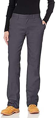 Dickies Women's Wrinkle Resistant Flat Front Twill Pant with Stain Rel