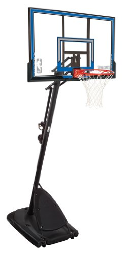 "Spalding Portable Basketball System - 50"" Polycarbonate Backboard"