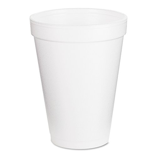 DART White Foam Cups 12 Oz